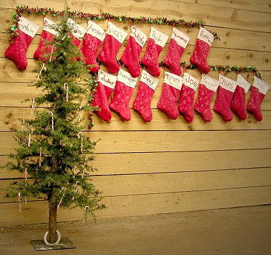 The stockings were hung by the tack room with care.