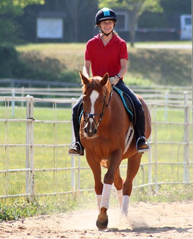 Baileysontherocks with Nikki Surrusco - his second owner since being at Bits & Bytes Farm.