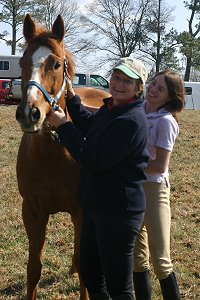 Former Horse For Sale - Baileysontherocks and his new mom Nikki Surrusco.