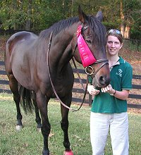 Big Money and mom Marie finished second at a combined training competition at Oxer Farm. - October 7, 2005