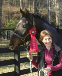 Friend of Bits & Bytes Farm Andi Krakovsky wins a red ribbon - is there another red ribbon in her future????