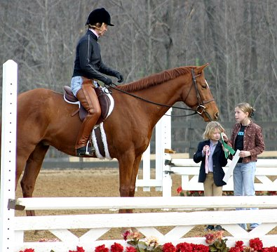 Brett wins a ribbon at his first  recognized horse show!