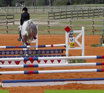 Grayboo and Amanda Cunefare at Ft. Rucker Horse Trials. March 2007