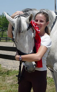 Former horse for sale - Grayboo and his young mom Amanda compete in the eventing world.