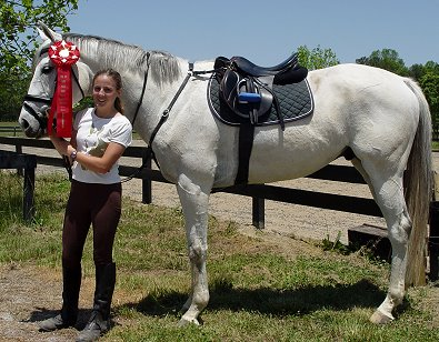 Grayboo and Amanda finished in 2nd place at Pine Top in the Junior Novice division in April.