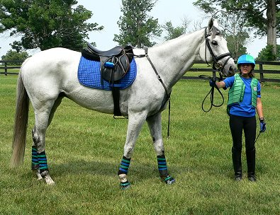 OTTB - Grayboo and Amanda looking good in their competition colors!