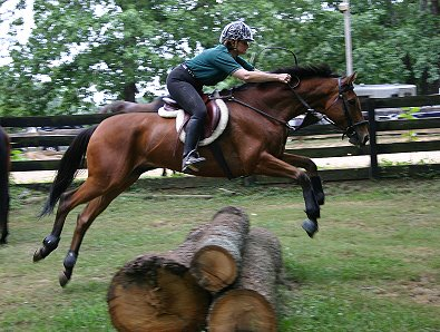 Heather's Best's first day schooling cross country fences - ever!