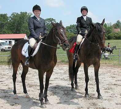 Irish Morning Mist and Te Conquistar both placed well at the show.