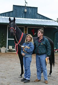 Legacy's Star with new owners Michael and Lana Wuolukka.