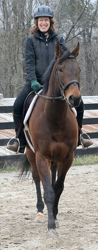 OTTB for sale. Pride of the Fox with Nancy Woodruff up. February 17, 2007