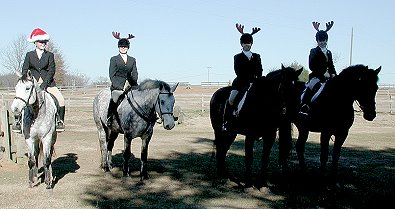 Smokey attended the Belle Meade Hounds Christmas fox hunt
