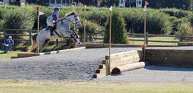 Got Um Smoke Um and Amy Macintire went double clear in X-country over a challanging course.