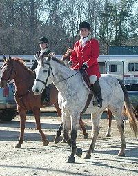 Smokey and Amy enjoy foxhunting and eventing. December 2005