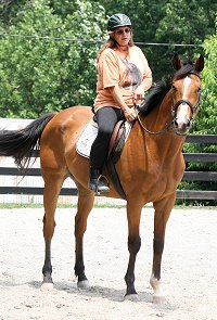 Kelly Fortner's first ride on Bits & Bytes Farm's Horse For Sale - Southern Legacy. July 2, 2007