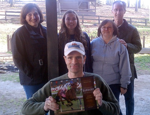 Alex Brown with Bits & Bytes Farm Thoroughbred owners