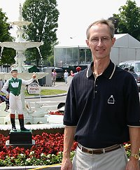 Barry at the world famous Saratoga Race Course in Saratoga, New York.