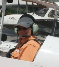 Elizabeth has a pilot's license but has no time or money to fly anymore - she has horses!