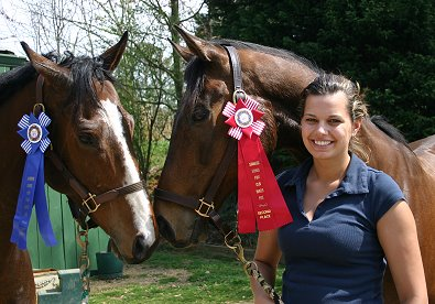 Pride of the Fox won second place at the Shamrock Hounds Pony Club Hunter Pace.