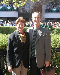 Elizabeth and Barry at Keeneland.