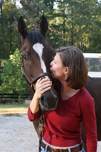 Aly's Alpha Boy meets his new mom Dawn Blackmore. October  2007