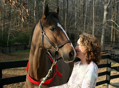 Boarder Nancy Woodruff bought her horse Dream Pusher as a Prospect Horse For Sale. February 28, 2007