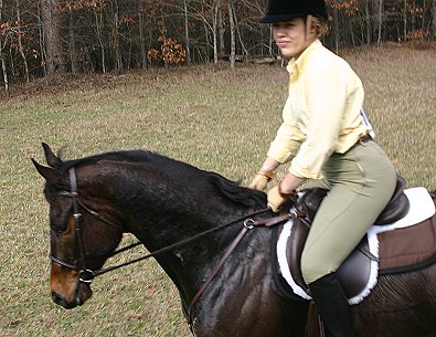 Stephanie Bone rode two horses she had never ridden before at the hunter pace.