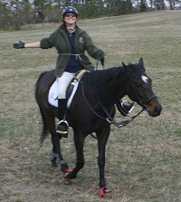 Missy enjoyed the ride on her off-the-track Thoroughbred.