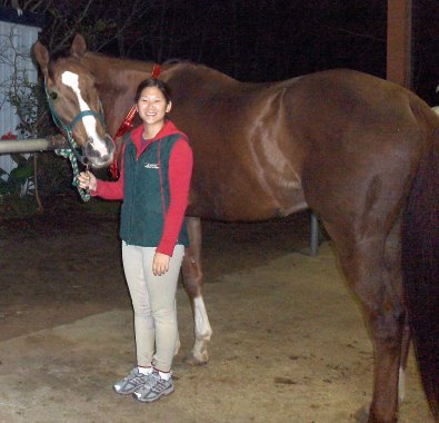 OTTB - Cold Cash and his new mom Emee Ermel of Houston, TX