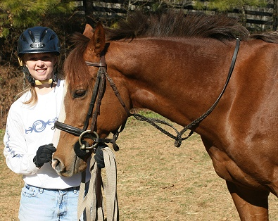 Amanda Curtis and her OTTB Fizzicus.