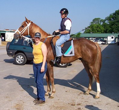 Hollywood Vic with mom Becky and his exercise rider Matthew. June 2007
