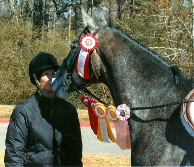 Tater and her mom Halliea cleaned up at a recent horse show in Atlanta, GA.