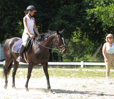 Roman Ripples and her mom attended a dressage clinic with Pam Schwartz.