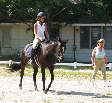 Roman Ripples attended a dressage clinic with Pam Schwartz