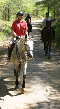 Sing D Song was a perfect gentleman on his first ever trail ride.