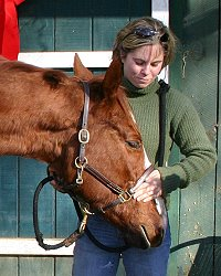 """Skinny"" goes home with his new mom Jessica Hughes! December 12, 2005"