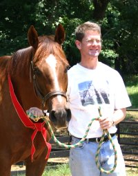 Voted Off was purchased by Bobbie and Palmer Hamilton of Charlotte, NC to be a fox hunter for Palmer.