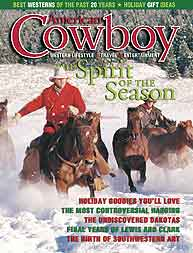 Ed Dabney is pictured on the cover of American Cowboy magazine.