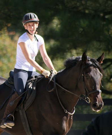 "Allison Moul is a ""Friend of Bits & Bytes Farm"" who is helping to train OTTBs as she is learning herself!"