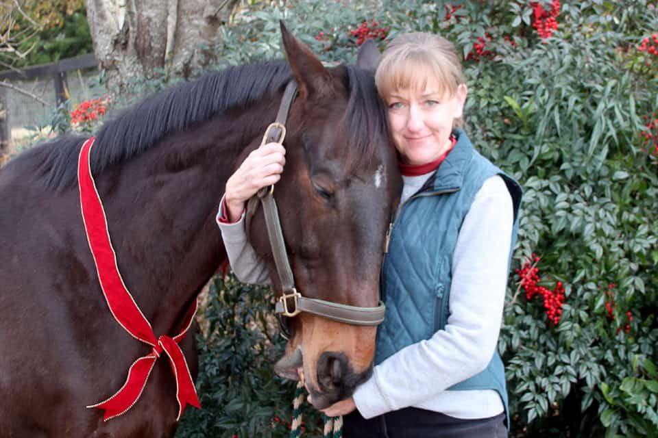 Brat Maverick and trainer Kathy Duke at Bits & Bytes Farm