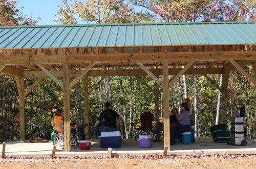 Party Pavillion at Garland Mountain Horse Trails