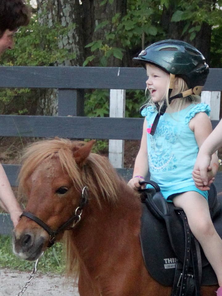 Abby on her first horse