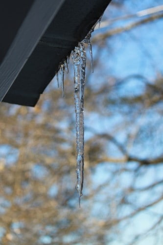 Icicle on the roof