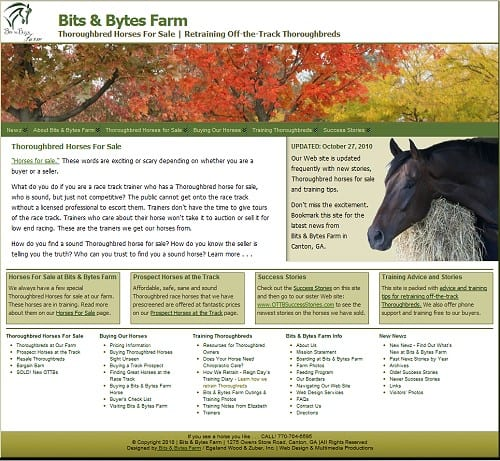 Bits & Bytes Farm New Home page