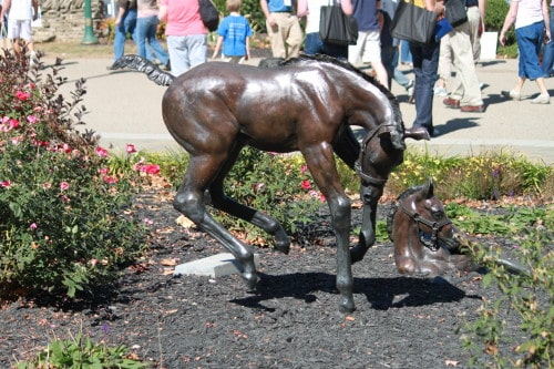 Sculpture at the Kentucky Horse Park