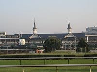 Churchhill Downs is the site of the new statue of Barbaro and also the Kentucky Derby.