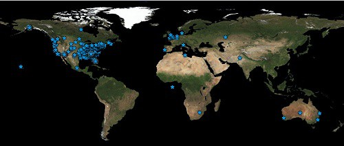 We have visitors from all over the world to our Web site.