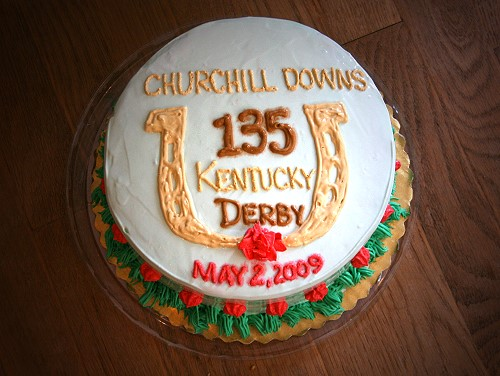 Our Kentucky Derby cake was provided by the Frosty Frog Creamery and Cafe.
