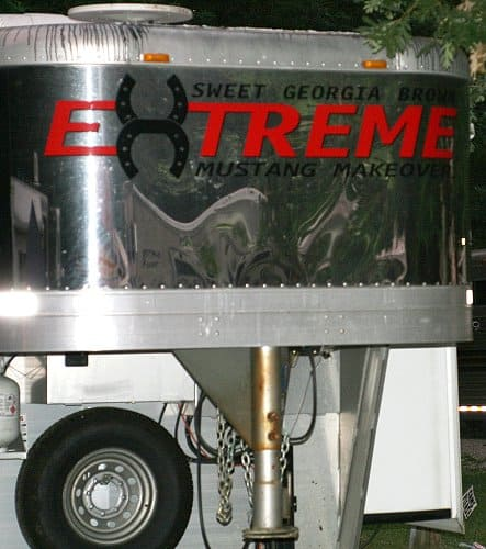 Extreme Mustang Makeover Trailer