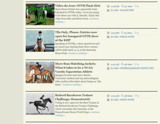 Horse Nation Web site