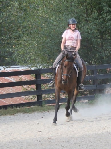 Trainer Kathy Duke on Brat Maverick